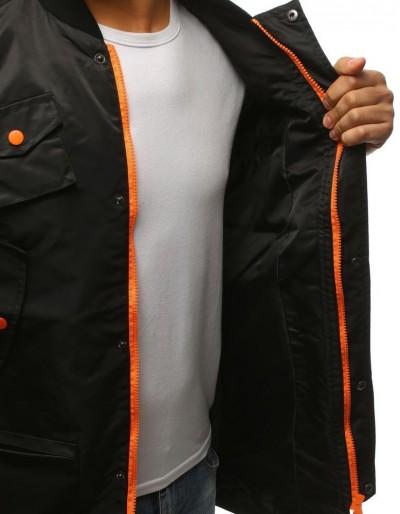 Kurtka męska bomber jacket wydłużona czarna TX1606