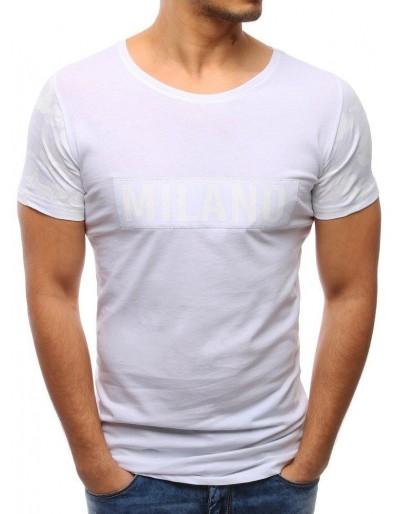 Pánské bílé tričko s potiskem (rx1960)