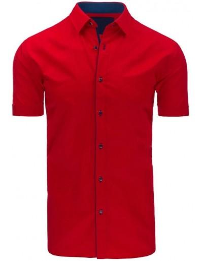Červené pánské elegantní tričko KX0776
