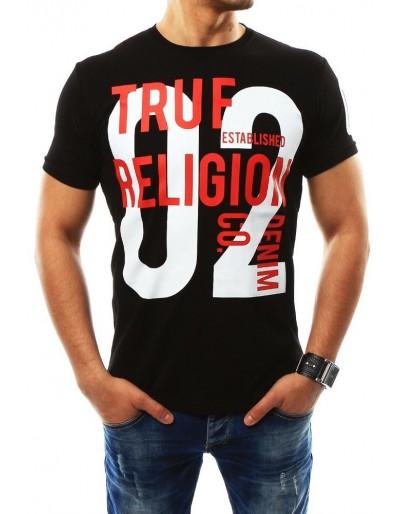 Pánské černé tričko s potiskem (rx2265)