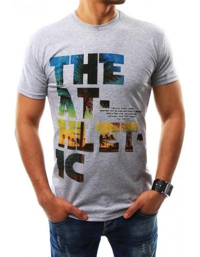 Pánské šedé tričko s potiskem (rx2316)
