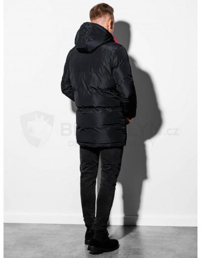 Men's winter quilted jacket C383 - black