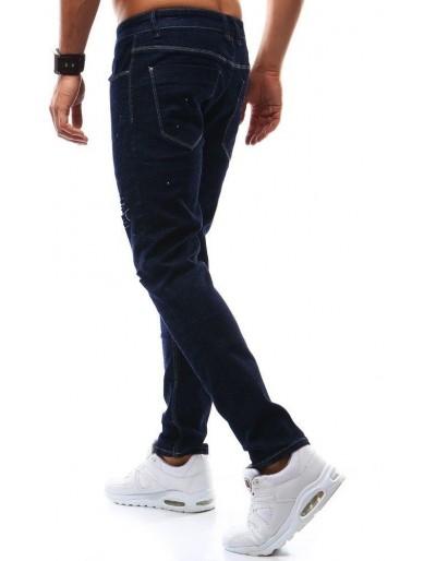 Spodnie jeansowe męskie granatowe UX0931