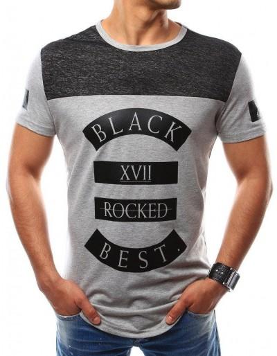 Šedé pánské tričko RX2440 s potiskem