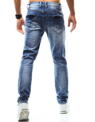 Spodnie jeansowe męskie niebieskie UX0935