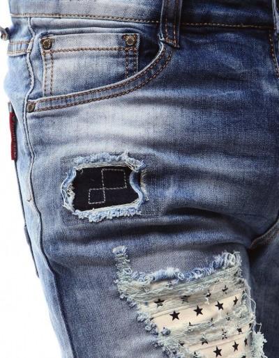 Modré pánské džíny UX0941