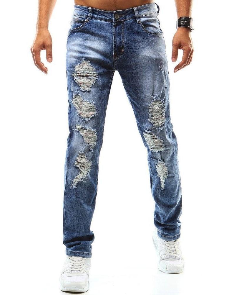 Pánské modré džínové kalhoty UX0942