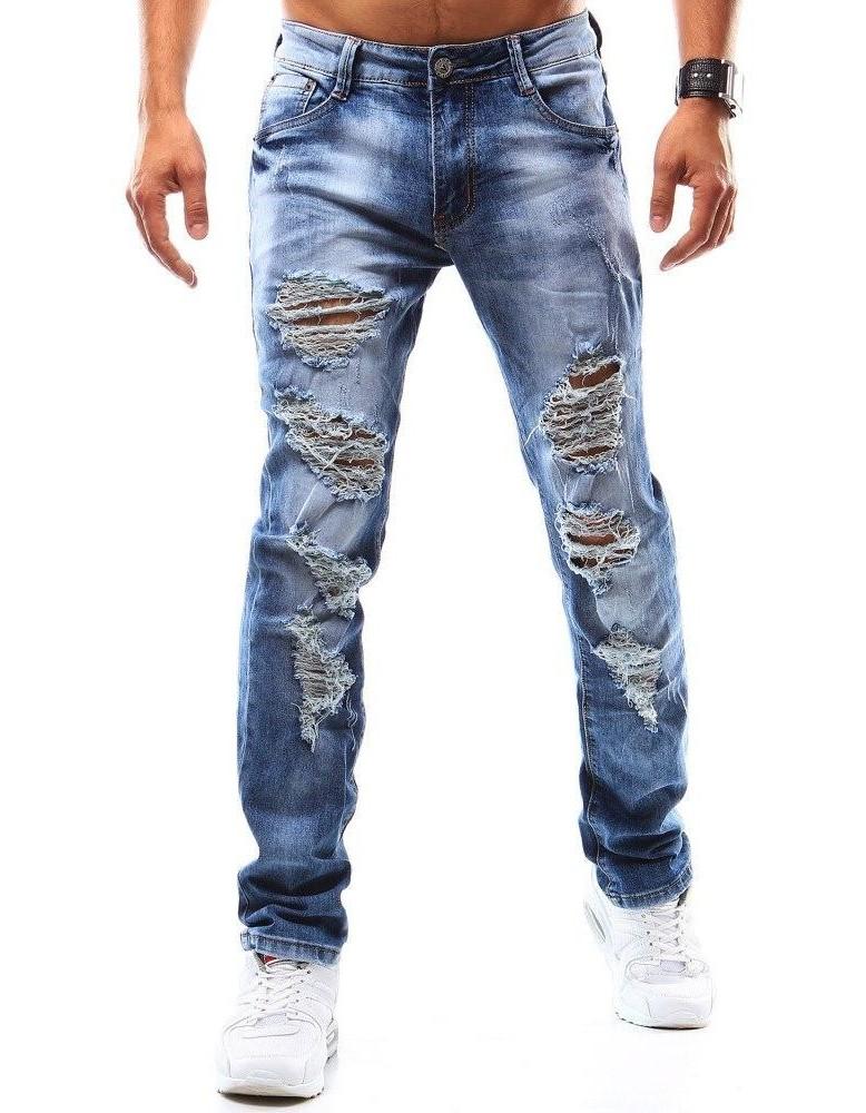 Pánské modré džínové kalhoty UX0948
