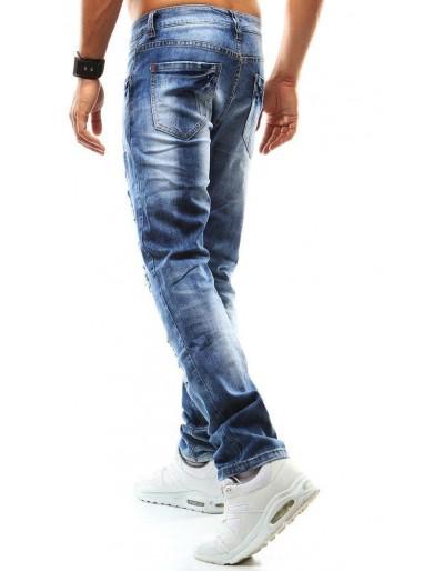 Spodnie jeansowe męskie niebieskie UX0948
