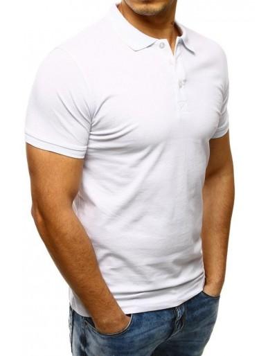 Koszulka polo męska biała PX0124