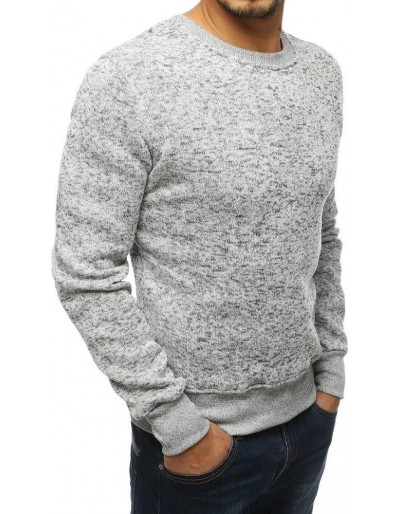 Bluza męska bez kaptura biała BX2360