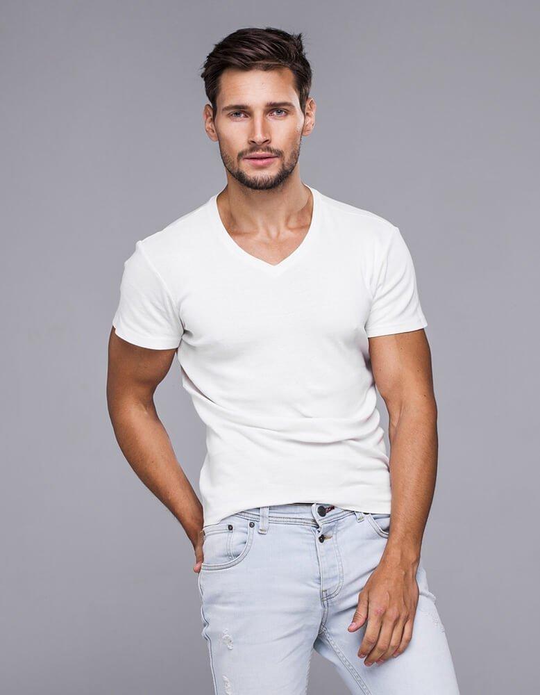 Pánské bílé tričko RX2578