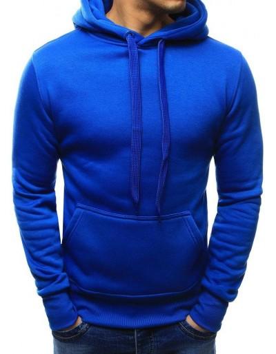 Královsky modrá pánská mikina s kapucí BX2392