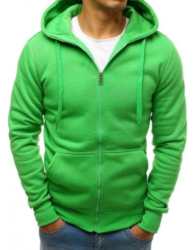Světle zelená pánská mikina s kapucí BX2413