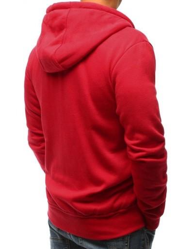 Tmavě červená pánská mikina s kapucí BX2414