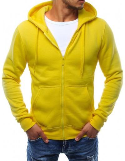 Žlutá panská mikina s kapucí BX2415