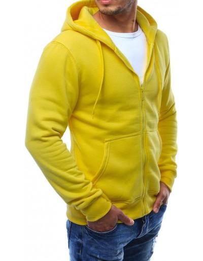 Žlutá pánská mikina s kapucí   BX2415