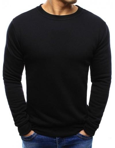 Pánská černá mikina bez kapání BX2416