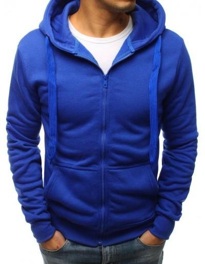Modrá pánská mikina s kapucí (bx3028)