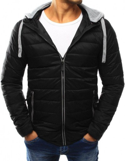 Pánská prošívaná bunda s kapucí černá (TX1861)