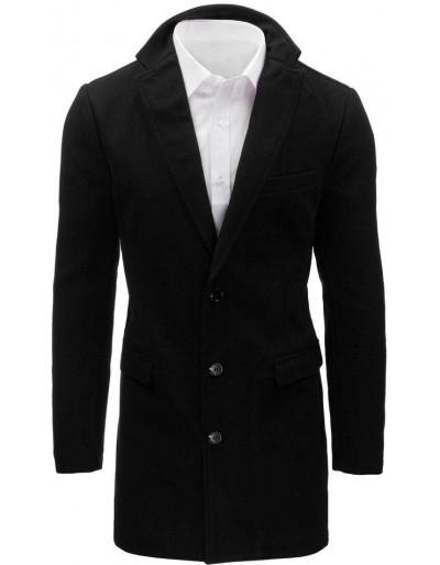 Pánský černý kabát CX0360