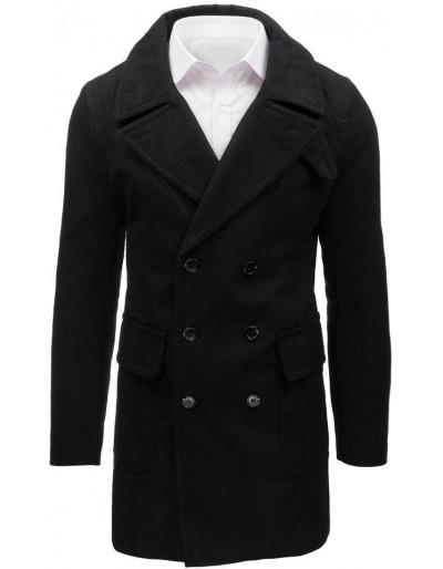 Pánský zimní černý kabát CX0361