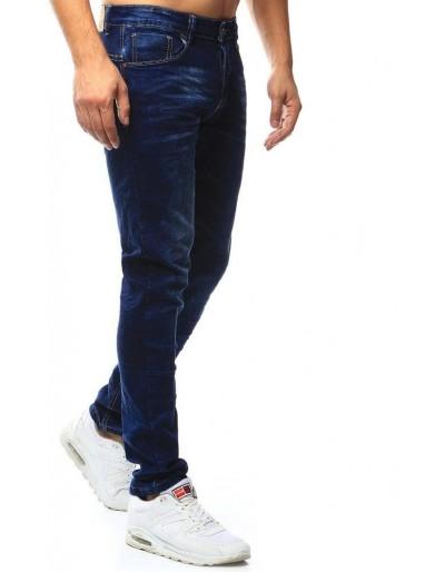 Spodnie jeansowe męskie granatowe UX1010
