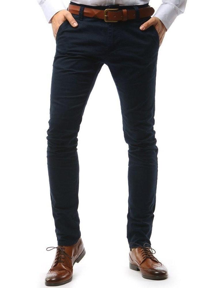 Pánské tmavě modré chino kalhoty UX1034