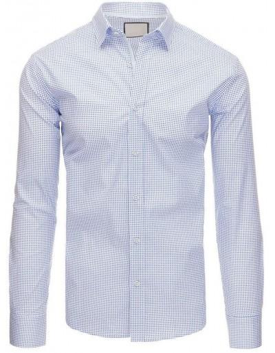 Bílé pánské tričko s dlouhým rukávem DX1396