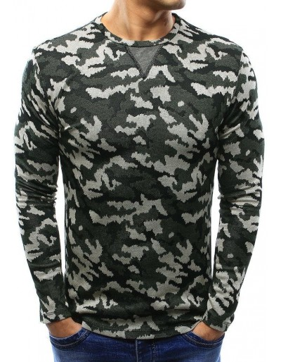 Pánský svetr, lesní kamufláž WX0993