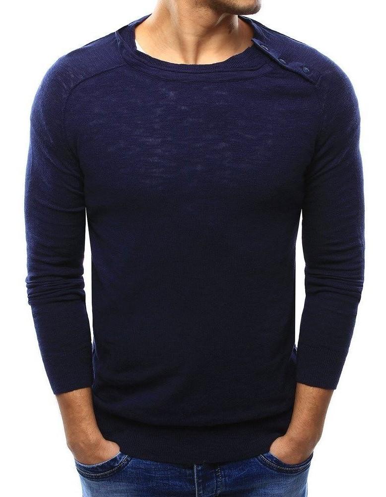 Pánský tmavě modrý svetr WX1003