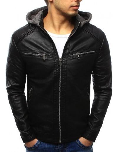 Černá pánská kožená bunda TX2070
