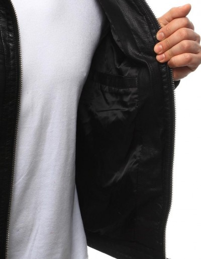 Kurtka męska skórzana czarna TX2070