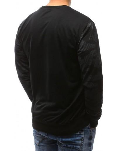 Maskáčovo-černá pánská mikina bez kapuce s potiskem BX3476