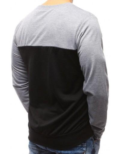 Černá pánská mikina bez kapuce s potiskem BX3492
