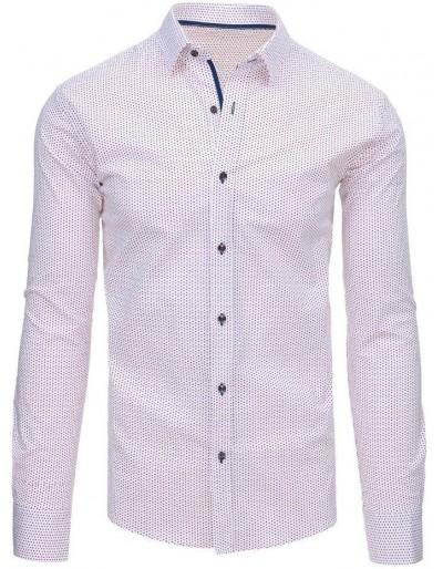 Bílé pánské tričko s dlouhým rukávem DX1461