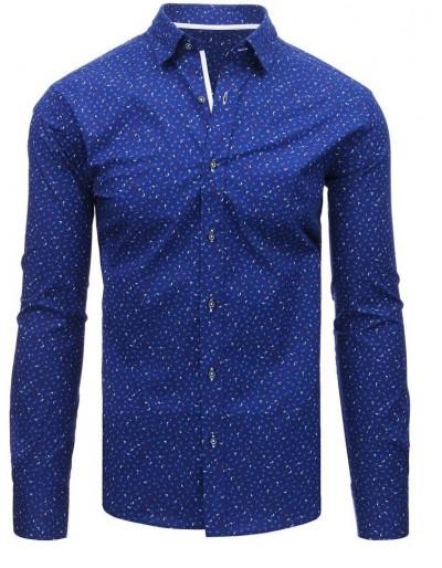 Námořnická modrá pánská košile s dlouhým rukávem DX1480
