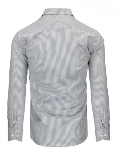 Biało-szara koszula męska w paski DX1496
