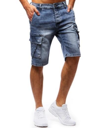Spodenki męskie jeansowe niebieskie SX0675