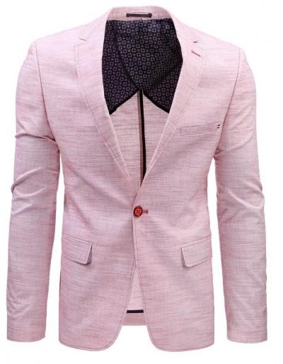 Pánská ležérní bunda růžová MX0381