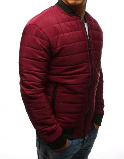 Kurtka męska pikowana bomber jacket bordowa TX2204