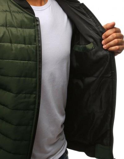 Kurtka męska pikowana bomber jacket zielona TX2211