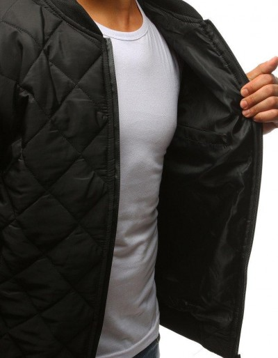 Kurtka męska pikowana bomber jacket czarna TX2215