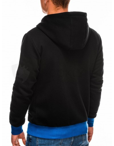 Men's zip-up hoodie B297 - black