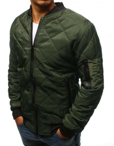 Kurtka męska pikowana bomber jacket zielona TX2216