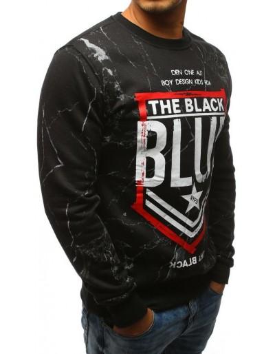 Černá pánská mikina bez kapuce  BX3529