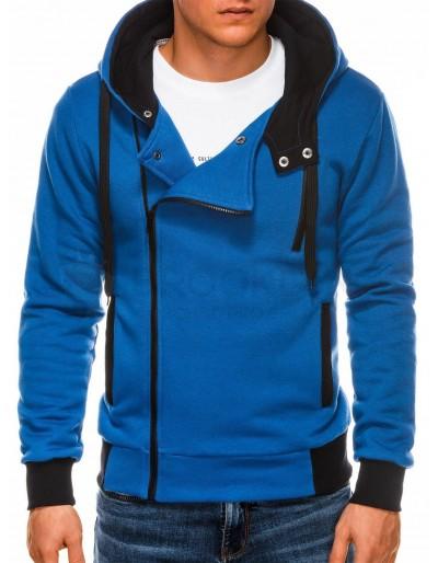 Pánská mikina na zip B297 - modrá