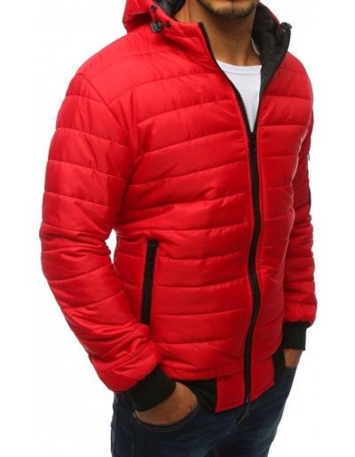 Kurtka męska pikowana bomber jacket czerwona (tx2233)