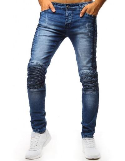 Pánské džíny se vzorem na kolenou UX1348