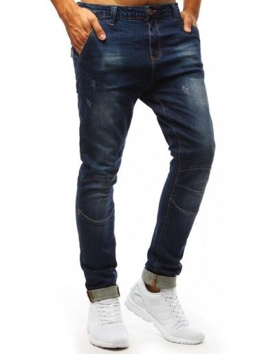 Modré džíny s velkými kapsami UX1366